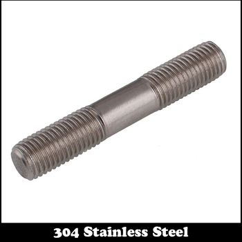1 st M16 85mm M16 * 85mm Volledige Draad 304 Rvs Dual Head Schroef Staaf Dubbele End schroef Hanger Blot Stud