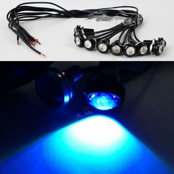 10 stks 9 W 18 MM 12 V 24 V Ice Blue LED Eagle Eye Licht Auto Mistlamp DRL Daytime Reverse Backup Parking Signaal