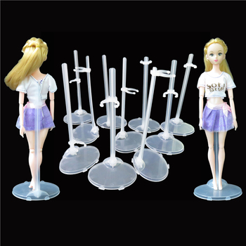 10 stks/partij doorschijnende doll stand display houder model mannequin display accessoires voor barbie doll stand e baby toys.