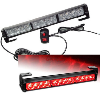 12 LED Strobe Lights Bar Voor Truck Emergency Waarschuwing Traffic Advisor Rood