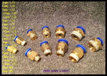 "15 stks/partij PC6-02 6mm om 1/4 ""pneumatische connectors man straight een touch fittings bspt gloednieuwe"