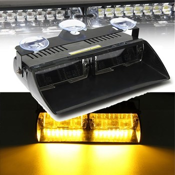 16 Led Flash Boot Truck Car Knipperend Emergency Voorruit Unit Strobe Light Lamp Amber Werklampen 12 v