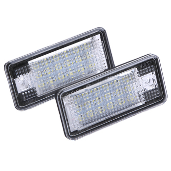 2 STKS 13.5 V 18 LED Auto LED Kenteken Plaat Licht Lamp Foutloos OBD Verlichting voor Audi A3 A4 A6 A8 B6 B7 S3 Q7 RS4 RS6