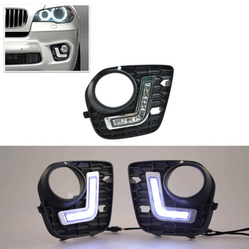 2 Stks/set 10 W Voor Bmw X5 E70 2010-2013 NT M-Tech Cree Chips Led Specifieke Dagrijverlichting Daylights 6000 K Xenon Wit DRL