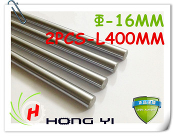 2 stks SFC16 mm-L400mm verchroomd Cilinder Linear Rail Ronde Rod Shaft Linear Motion Shaft voor CNC XYZ