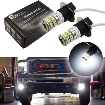 2 STKS Xenon Wit 36-SMD High Power H3 Led-lampen Voor Mistlamp DRL Rijden Lampen