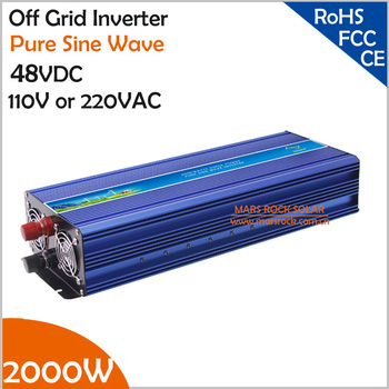 2000 W 48VDC Off Grid Solar-omvormer of Wind Inverter, Surge 4000 W Pure Sinus Omvormer voor 110 V/220VAC Thuis Apparaten