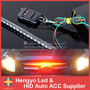 20modes IP68 Waterproof 56CM 48LED Bar Light Piranhas Led Car LED Knight Rider Lights With Infrared Remote Control