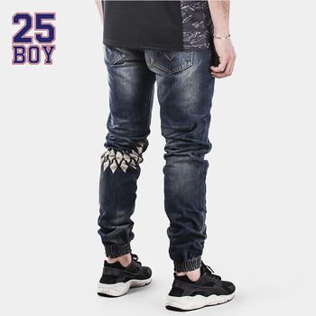 25BOY HARDLY EVER'S Selvedge Denims with Print ankle Pants Premium Craft Jeans
