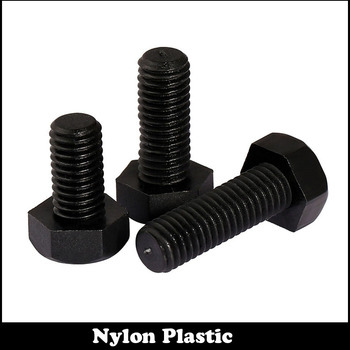 30 stks M4 M4 * 12 Zwarte Isolerende Metric Hex Bolt Plastic Nylon Hexagon Schroef