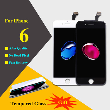 AAAAA Voor iPhone 6 Lcd Touch Screen Digitizer Montage Telefoon Onderdelen LCD Voor iPhone 6 Screen Zwart Wit