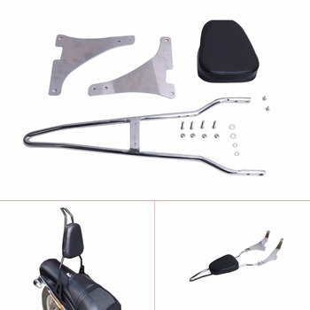 Afneembare Pad Sissy Bar W/Rugleuning Pad Voor Harley Davidson Dyna FXD FXDB FXDC FXDL FXDWG C/5
