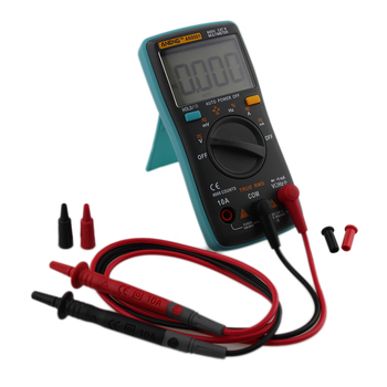 AN8001 Digitale Multimeter 6000 Telt Backlight AC/DC Amperemeter Voltmeter Ohm Draagbare Meter Met Meetsnoeren