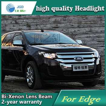 Auto Styling Hoofd Lamp case voor Ford EDGE Koplampen LED Koplamp DRL Lens Dubbele Beam Bi-Xenon HID auto accessoires