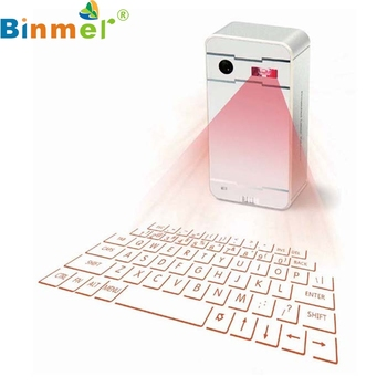 Binmer mecall tech innovatieve draadloze bluetooth laser projectie virtual keyboard voor telefoon pc tablet laptop
