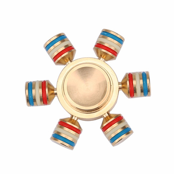Brass Hand spinner Six Spinner Fidget Finger Spinner For Autism ADHD Toys EDC DESK TOY top spinner beyblade Finger Peg-Top