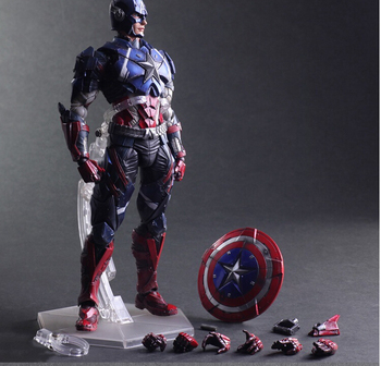Captain America Action Figure Speelgoed Play Arts Kai Collection Model Anime Captain Amerika Playarts Speelgoed