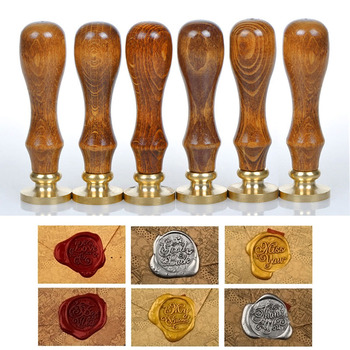 Classic Zegellak Initial Wax Seal Stamp Diverse Alfabet Brief Retro Hout Scrapbooking Stempel DIY Post Decoratieve