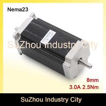 CNC NEMA 23 Dubbele as stappenmotor 57X100mm 3A 2.2N.m stappenmotor 357Oz-in voor CNC Router graveren machine 3D Printer