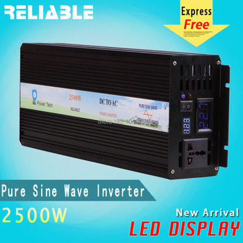 Digitale LED Display zonnestelsel generator 2000 w zuivere sinusomvormer auto voltage converter 12vdc naar 220vac thuis power supply