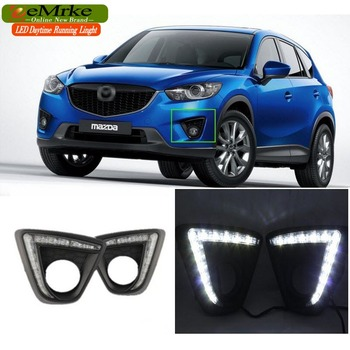 EeMrke Auto LED DRL Voor Mazda CX 5 CX-5 2011-Xenon Wit DRL Fog Cover Dagrijverlichting Kits