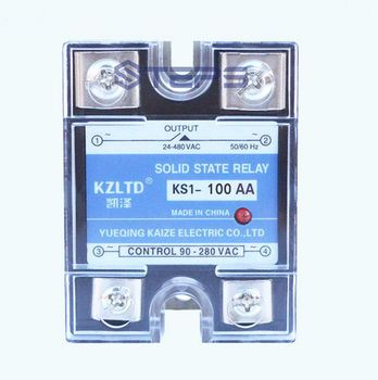 Eenfase solid state relais 100A AC AC solid state relais contactor VAC 220 V 380 V