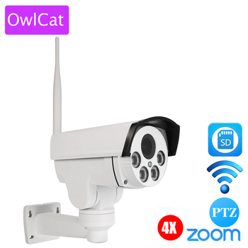 Full HD 1080 P Bullet IP Camera PTZ Outdoor Wifi 4X Pan Tilt Zoom Auto Focus 2.8-12mm 2MP Draadloze IR Onvif Sd-kaart