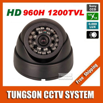 Grote korting sony ccd 960 h effio 1200tvl dome video surveillance cam nachtzicht infrarood led indoor home security cctv camera