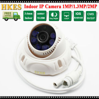 HKES IP Camera 1080 P 2MP IR nachtzicht Dome Security Camera met groothoek 3.6mm Lens