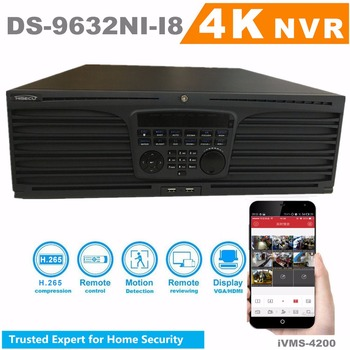 In Voorraad HiSecu Ingebed NVR DS-9632NI-I8 32CH 12MP 4 K Hdmi-uitgang H.265 Surveillance Video Recorder 8 SATA voor HDD