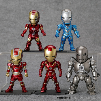 Iron Man Licht & Action Functie 5 stks/set Monger Iron Patriot Mark XXX XLV IV Cijfers Speelgoed HRFG510