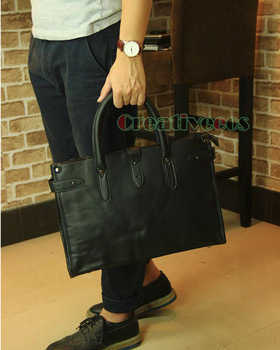 Koreaanse Mode Mannen PU Lederen Reizen Aktentas Laptop Cross Body Messenger Schouder Handtas Tote Casual Bag Handtassen