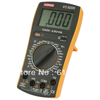 Lcd-scherm AC DC Voltmeter Resistance Ohmmeter Capaciteit Diode hFE Testing Tool Volt Amp Ohm Meter VC9205 Digitale Multimeter