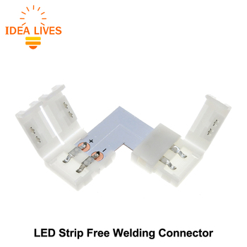 LED Strip Connector 2pin 10mm L Vorm/T Vorm/X Vorm Lassen Connector 5 stks/partij.