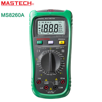 Mastech ms8260a digitale multimeter spanning microampere tester non-contact voltage detectie diode/doorgangstester