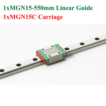 Mr15 15mm mini lineaire 550mm mgn15 lineaire motion rail met mgn15c lineaire blok cnc kossel