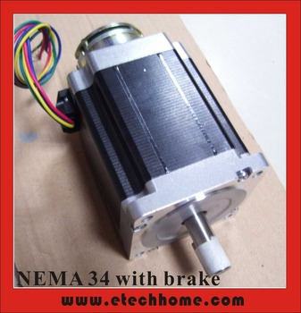 NEMA 34 Stappenmotor Brake 24VDC 2N (278oz-in) Off-power Brake Stepper Nema34 4-lead 98mm Body Lengte Nema34 Brake