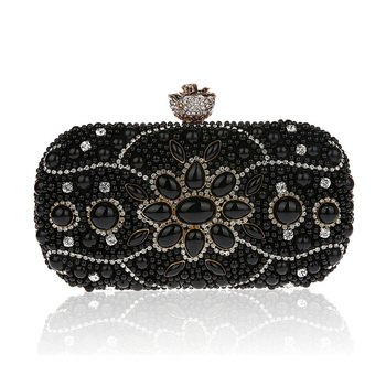 Nieuwe Collectie Luxe Diamant Strass Avondtasje Kralen Parel Ketting Dag Clutch Bridal Wedding Party Purse Bolsas Mujer XA1657C