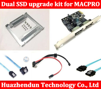 Nieuwe Dual SSD upgrade kit voor MAC PRO 1.1-5.1 inclued (dual ssd tray/sata kabel/sata3 card/SATA3.0 Hard Disk Datakabel)