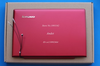 Nieuwe originele voor lenovo ideapad u430 touch u430t lz9t lcd cover rood 90203120 3clz9lclv10