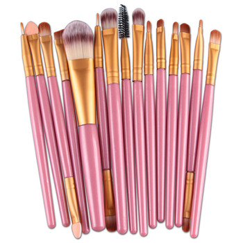 Nieuwe Professionele 15 STKS Up Kwasten Set Gereedschap Make-up Toilettas Kit Make Up Brush Set Case Cosmetische Foundation borstel