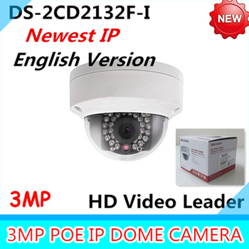 Nieuwste Engels Versie IP Camera DS-2CD2132F-I 3MP Mini Dome Camera 1080 P POE IP CCTV Camera meertalige