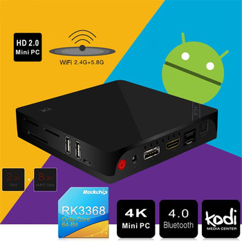 Originele beelink i68 uhd 4 k mini set-top box h.265 xbmc tv Box 1000 M Ethernet Android 5.1 Octa Core WiFi BT 4.0 Media speler