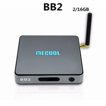 Originele MECOOL BB2 Android 6.0 S912 TV Box 2G DDR3 16G Flash Dual Band WiFi KoDi 17.0 Bluetooth set up doos