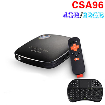 Originele RK3399 CSA96 4 GB/32 GB Android 6.0 TV Box Mali-T860MP4 USB 3.0 64-bit CPU 4 K Smart mini pc