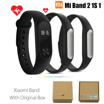 Originele xiaomi mi band 2 1 s 1 smart polsband armband xiomi miband2 Hartslag Fitness Tracker miband band2 Voor IOS Android