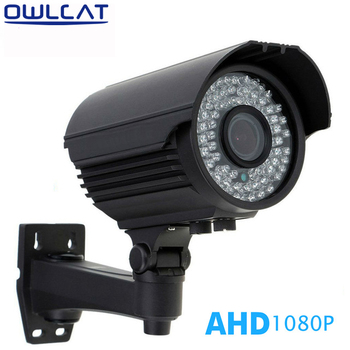 OwlCat CCTV AHD Varifocale 2.8-12mm Handmatige zoom lens Full HD 1080 P Outdoor Waterdichte Bullet Camera Surveillance Nachtzicht
