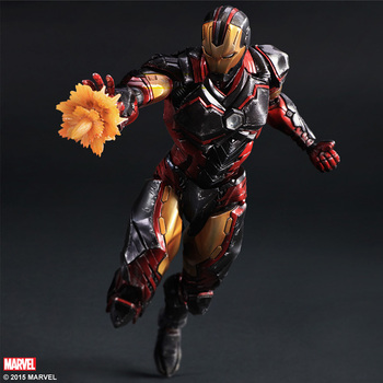 Play Arts Kai Iron Man Super Hero Leeftijd van Ultron Tony Stark Hulkbuster PA 27 cm PVC Action Figure Pop Speelgoed Kids Gift Brinquedos