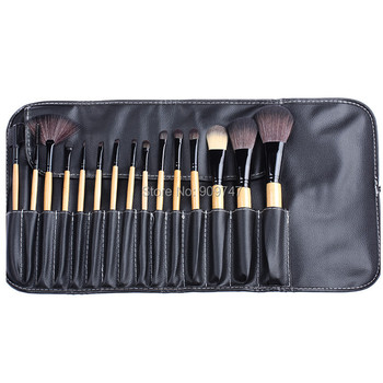 Pro 15 stks Up Kwasten Set Poeder Foundation Oogschaduw Concealer Eyeliner Lip Brush Tool