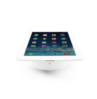 Retail ipad anti diefstal display tablet beveiliging stand samsung tablet tafel mount ipad alarm houder opladen voor alle tabletten wit